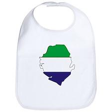 Sierra Leone Flag Map Bib