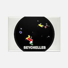 Flag Map of seychelles Islan Rectangle Magnet