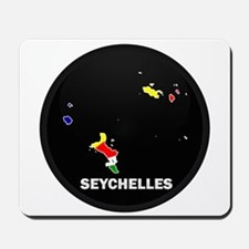 Flag Map of seychelles Islan Mousepad