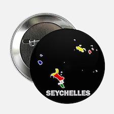 "Flag Map of seychelles Islan 2.25"" Button"