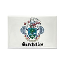 Seychellois Coat of Arms Seal Rectangle Magnet