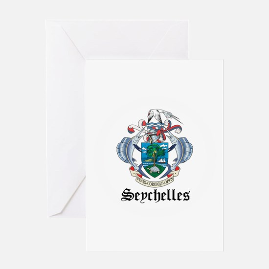 Seychellois Coat of Arms Seal Greeting Card