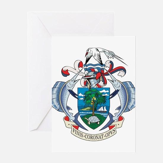 seychelles Islands Coat of Greeting Card