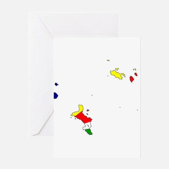 seychelles Islands Flag Ma Greeting Card