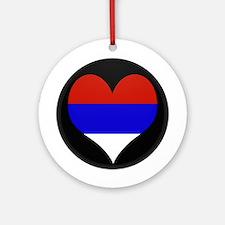 I love Serbia Flag Ornament (Round)