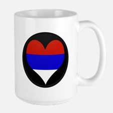 I love Serbia Flag Mug