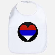 I love Serbia Flag Bib