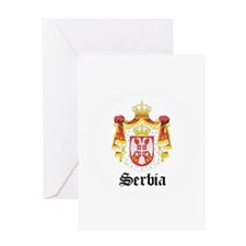 Serb Coat of Arms Seal Greeting Card