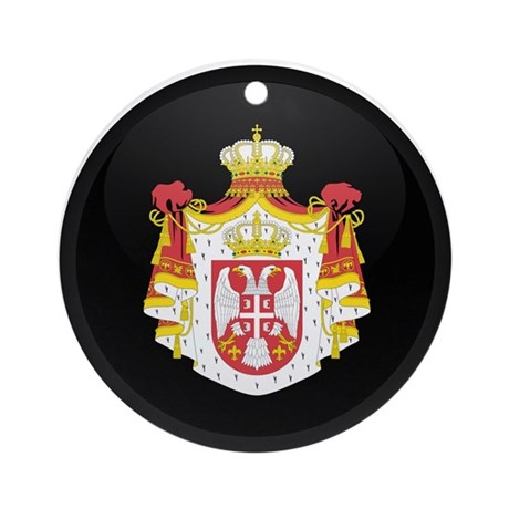 Coat of Arms of Serbia Ornament (Round)