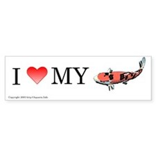 I Love My Koi Bumper Bumper Sticker