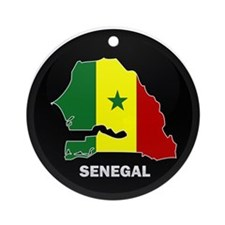 Flag Map of senegal Ornament (Round)