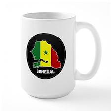 Flag Map of senegal Mug