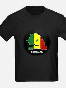 Flag Map of senegal T
