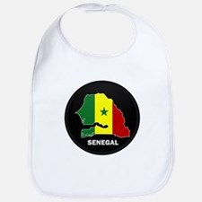 Flag Map of senegal Bib