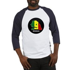 Flag Map of senegal Baseball Jersey