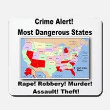 Most Dangerous States! Mousepad