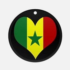 I love senegal Flag Ornament (Round)