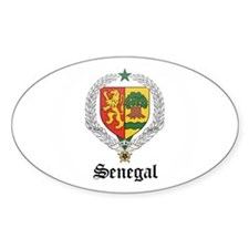 Senegalese Coat of Arms Seal Oval Decal