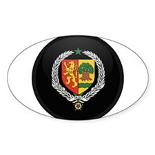 Coat of Arms of senegal Oval Decal
