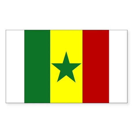 Senegalese Rectangle Sticker