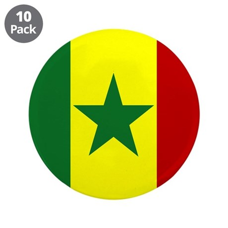 """Senegalese 3.5"""" Button (10 pack)"""