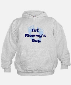 1st Mommy's Day - Blue Feet - Hoodie