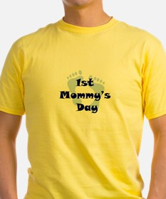 1st Mommy's Day - Blue Feet - T