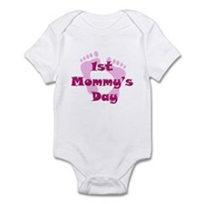 1st Mommy's Day - pink feet - Infant Bodysuit