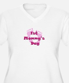1st Mommy's Day - pink feet - T-Shirt