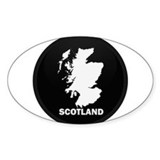 Flag Map of Scotland Oval Decal