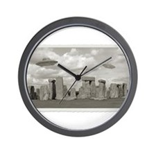 Stone Henge UFO Wall Clock