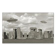Stone Henge UFO Rectangle Decal
