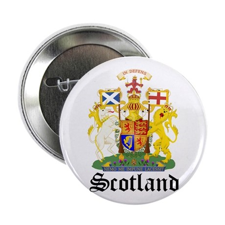 """scottish Coat of Arms Seal 2.25"""" Button"""