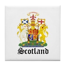 scottish Coat of Arms Seal Tile Coaster