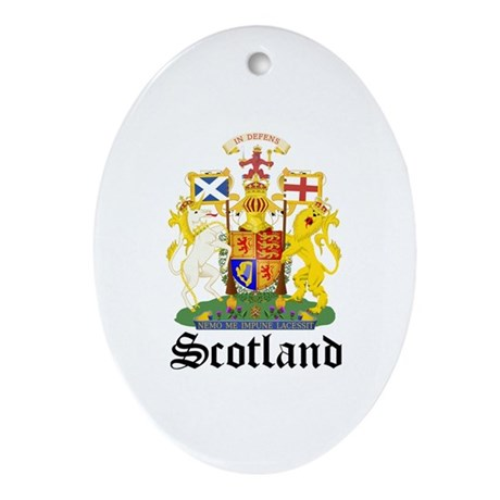 scottish Coat of Arms Seal Oval Ornament