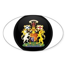 Coat of Arms of Scotland Oval Decal