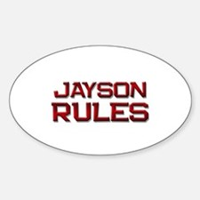 jayson rules Oval Decal