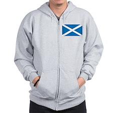 Scotland Flag Zip Hoodie
