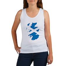 Scotland Flag Map Women's Tank Top