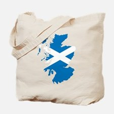 Scotland Flag Map Tote Bag