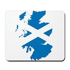 Scotland Flag Map Mousepad