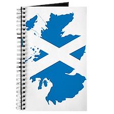 Scotland Flag Map Journal