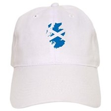 Scotland Flag Map Baseball Cap