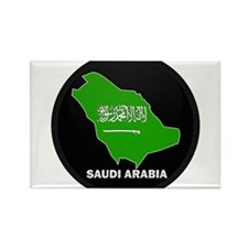 Flag Map of Saudi Arabia Rectangle Magnet