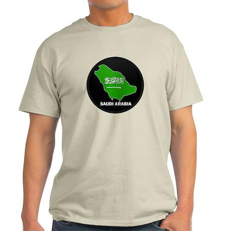 Flag Map of Saudi Arabia Light T-Shirt