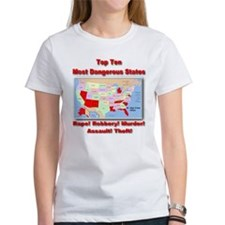 Most Dangerous States Tee