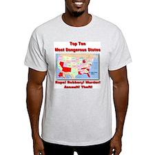 Most Dangerous States T-Shirt