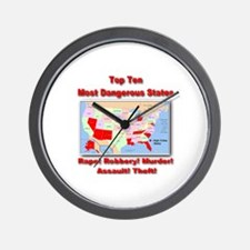 Most Dangerous States Wall Clock