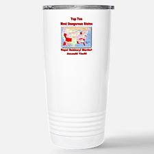 Most Dangerous States Travel Mug