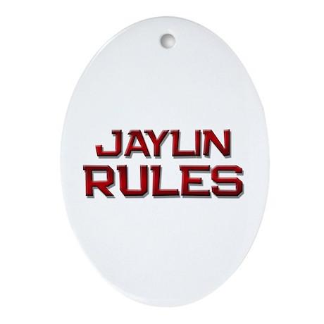 jaylin rules Oval Ornament